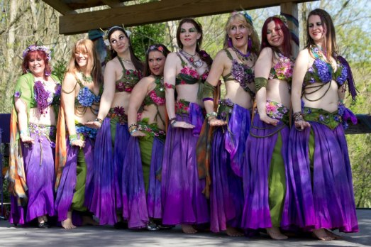 Aubergine Faeries dance at Spoutwood Farm's 2013 May Day Fairie Festival.  Photo courtesy of Willow Dower.